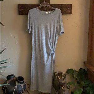 Soft gray midi dress